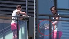 La curiosa imagen de Nadal en el balcón de su hotel: saluda a los fans, pero... ¿qué lleva en las manos?