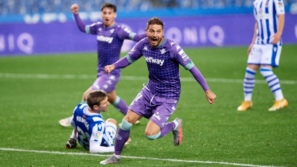 Joaquín, celebrando el gol del empate