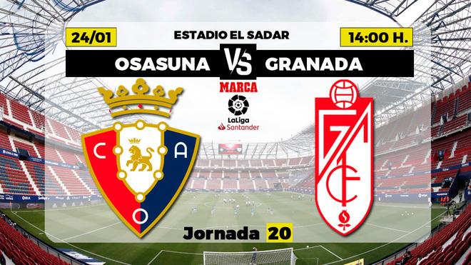 Osasuna vs Granada: Con ganas de revancha