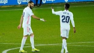 Benzemá habla del triunfo del Madrid.