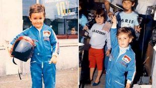 Fernando Alonso colgó en redes estas fotos de él de niño...