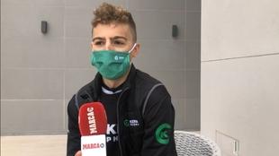 Jaime Castrillo posa para MARCA en Villajoyosa