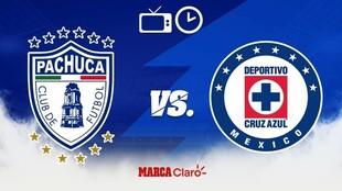 Pachuca vs Cruz Azul, horario y dónde ver.