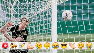 De Jong tras marcar su gol