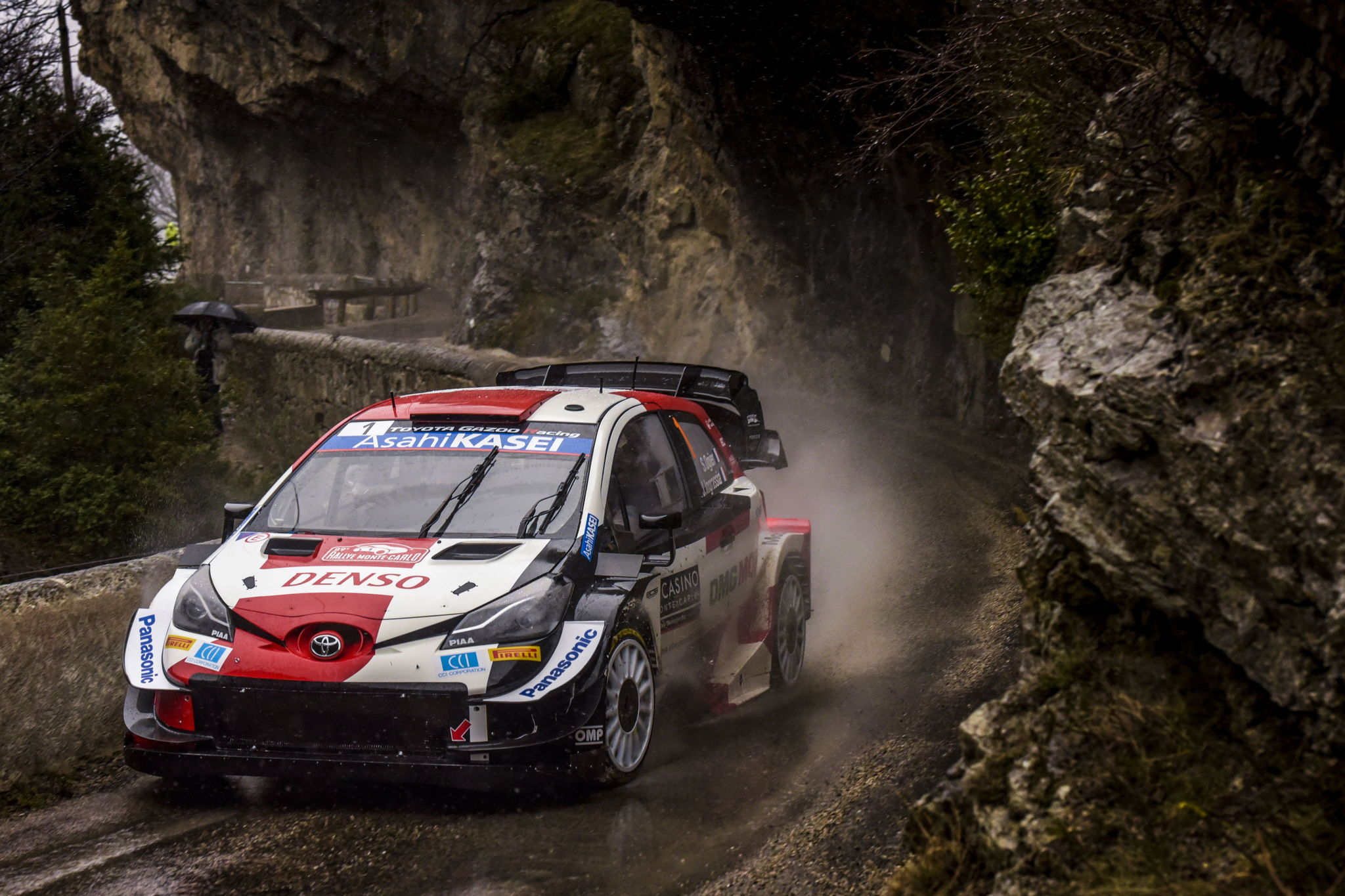 Gap (France), 22/01/2021.- Sebastien lt;HIT gt;Ogier lt;/HIT gt; of France drives his Toyota Yaris WRC during Day 2 of the Rally Monte Carlo 2021, in Gap, France, 22 January 2021. (Francia) EFE/EPA/Reporter Images