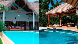 Villa Montaña (izquierda) y Villa Playa (derecha)