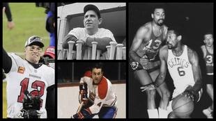 Brady, Berra, Beliveau y Russell, los más finalistas en el deporte...