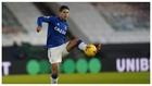 James Rodríguez controla el balón en el partido de Liga contra el...