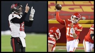 Tom Brady and Patrick Mahones