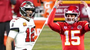 Ton Brady vs Patrick Mahomes, comparativa.