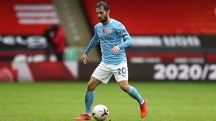 Bernardo Silva durante un partido con el City.