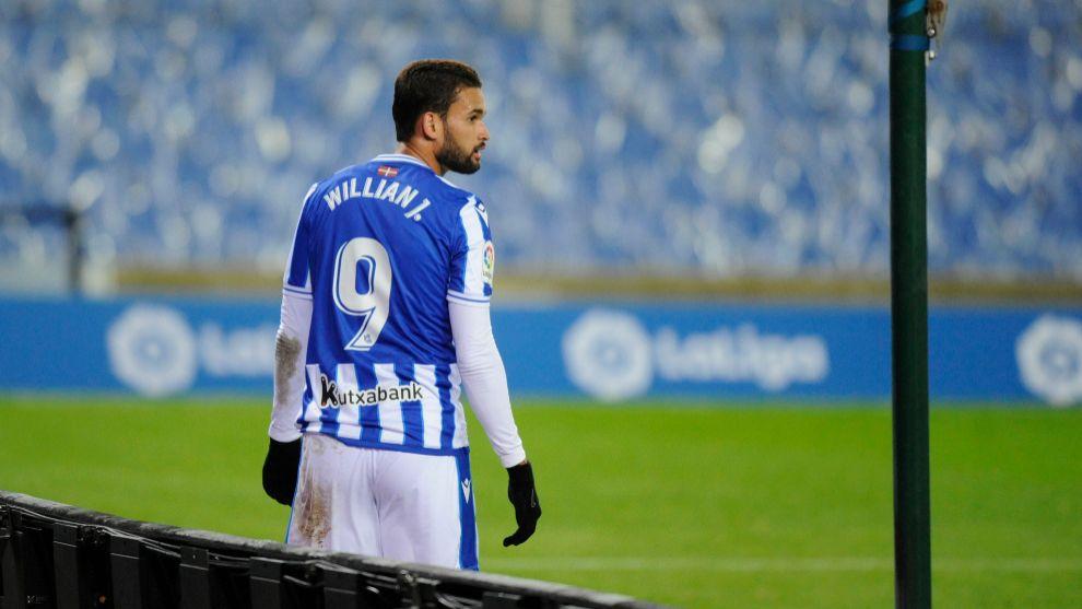 Willian José, en su último partido con la Real en Anoeta.