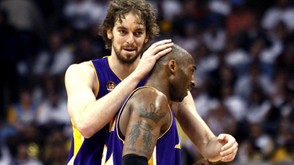 Pau Gasol and Kobe Bryant in 2008