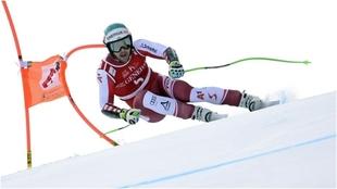 El austriaco Vincent Kriechmayr, en el super G de Kitzbuehel.