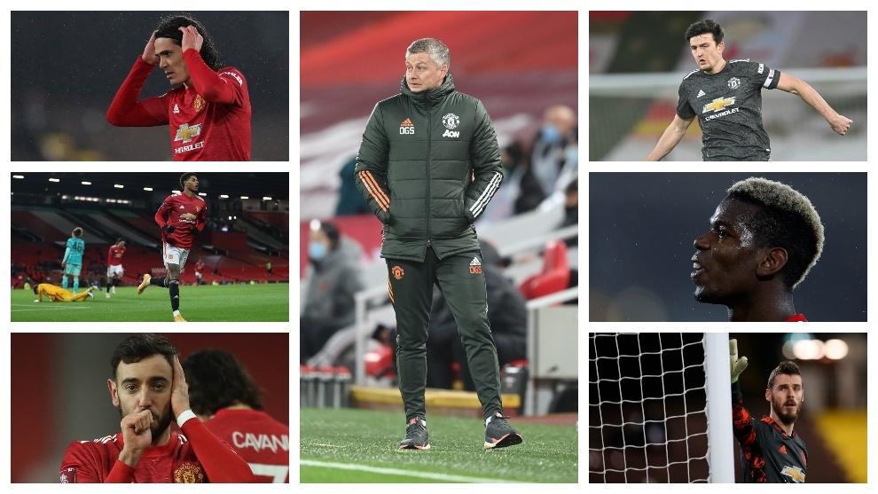 Solskjaer, Cavani, Rashford, Bruno Fernandes, Maguire, Pogba y De Gea...