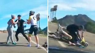 Lamentable agresión a puñetazos de un conductor a un ciclista en Gran Canaria