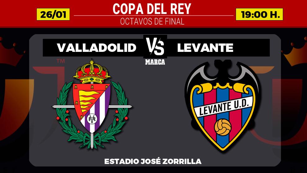 Valladolid - Levante: horario y donde ver por television y online hoy...
