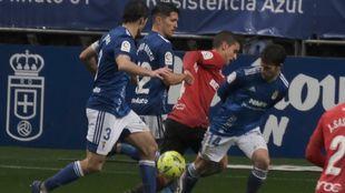 Juanjo NIeto y Arribas, en el partido ante el Mallora en el Tartiere