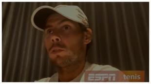 Nadal, en la entrevista con ESPN