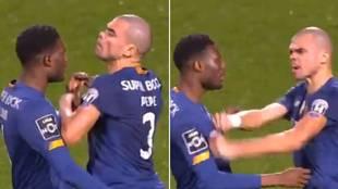 La cruzada de cables de Pepe con un compañero: ¡su cara lo dice todo y asusta!