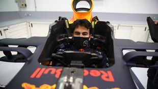 Sergio Checo Pérez, dentro del Red Bull.