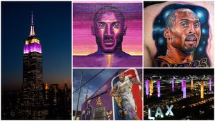 Kobe, en el recuerdo: homenajes, murales, tatuajes...