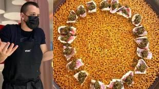 El chef Dabiz Muñoz y su 'paella madrileña'