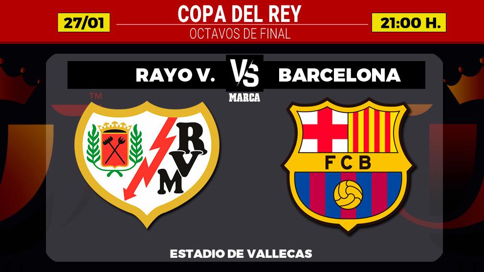 Rayo Vallecano - Barcelona: horario, canal y donde ver por TV hoy el...