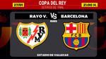 Alineaciones del Rayo Vallecano - Barcelona de los octavos de Copa: Messi, titular