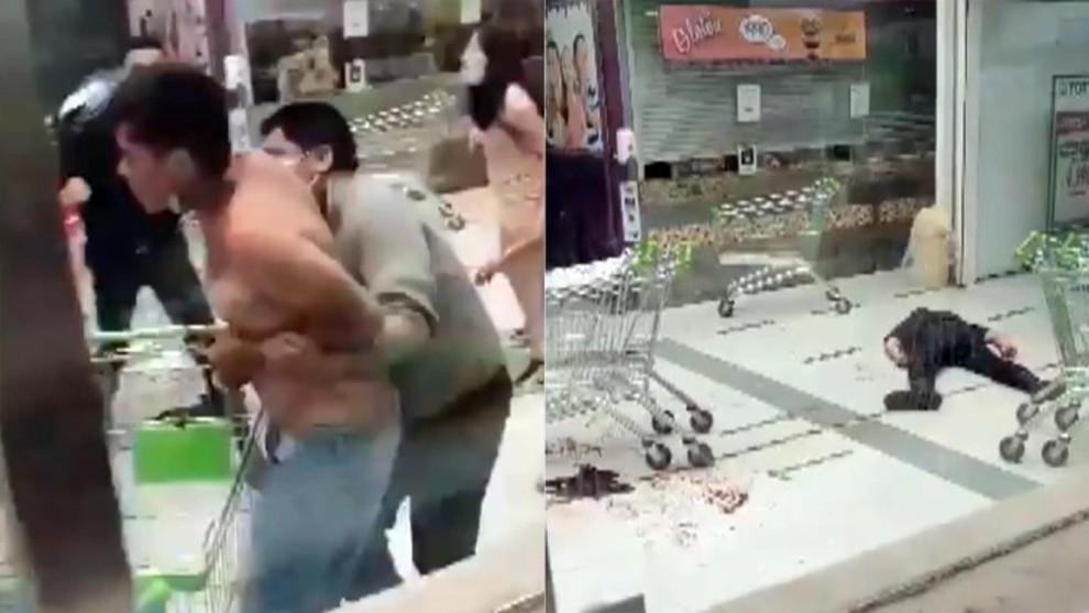 Salvajada en Chile: un adolescente acuchilla a dos vigilantes de seguridad en un supermercado