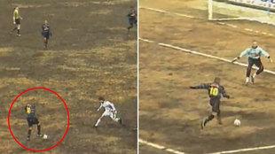 La UEFA recupera un vídeo de Ronaldo jugando en el peor 'patatal' de toda su carrera