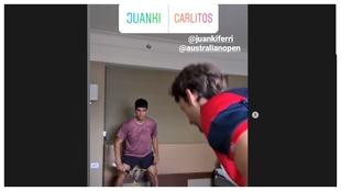 Alcaraz y Juan Carlos Ferrero