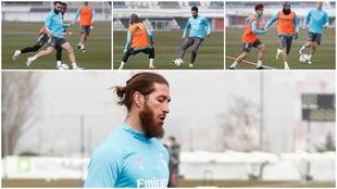 Imágenes del entrenamiento del Real Madrid.