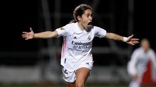 Lorena Navarro celebra su gol ante el Santa Teresa en el último...