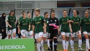 Las jugadoras del Athletic Club durante un partido en Badajoz el...