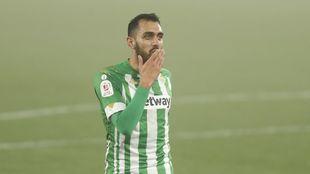 Borja Iglesias, celebrando su gol