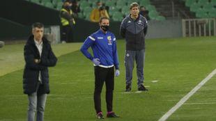 Pellegrini e Imanol, durante el partido