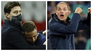 Un montaje fotográfico con Pochettino abrazando a Neymar y Tuchel.