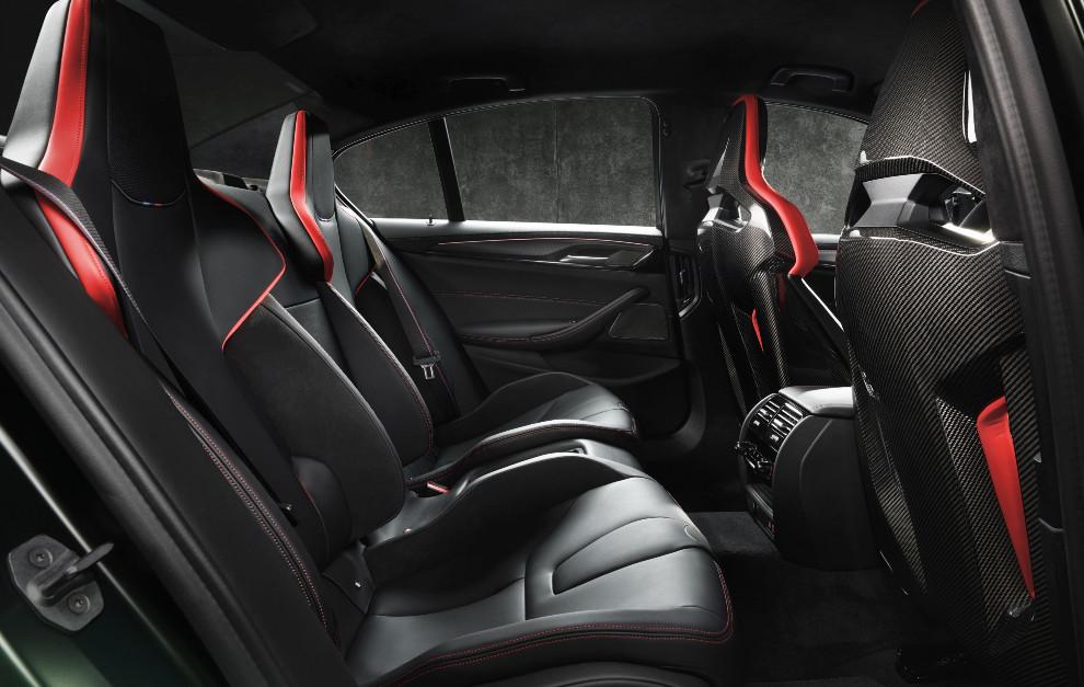 En el BMW M5 CS pueden viajar hasta cuatro personas en asientos deportivos.