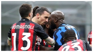 El pique entre Ibrahimovic y Lukaku en el Inter-Milan de 'Coppa'.