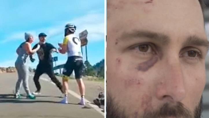 """El ciclista agredido a puñetazos por un conductor explica lo sucedido: """"Y encima me ha denunciado él a mí"""""""
