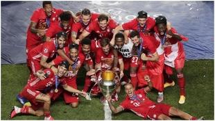 El Bayern de Múnich, nada más ganar la Champions frente al PSG.