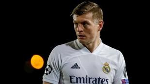 Kroos, en un partido con el Real Madrid.