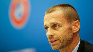 El presidente de la UEFA, Aleksander Ceferi