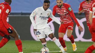 Rodrygo, en su último partido ante el Granada.