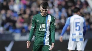 Campuzano, durante un partido con el Espanyol en Butarque