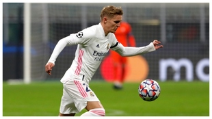 Odegaard during a Real Madrid match