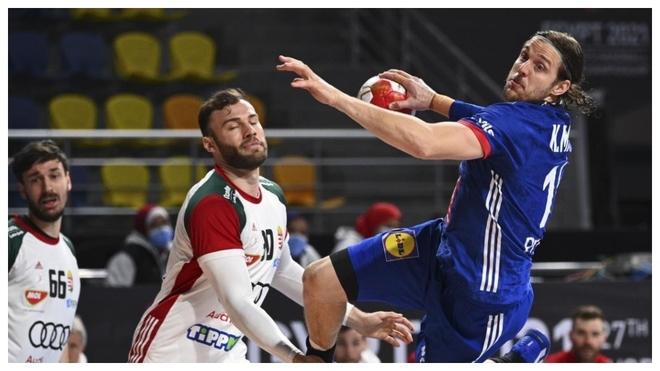 El francés Kentin Mahe se dispone a lanzar ante Hungría /