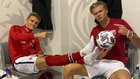 Odegaard and Haaland with Norway