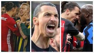 Un montaje fotográfico con imágenes de Ibrahimovic.